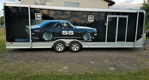 26' Aluminum Frame w/Race Car Graphics